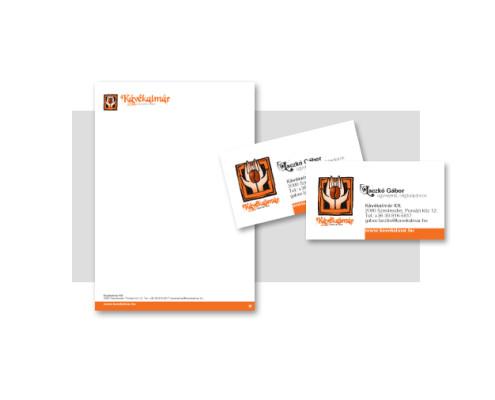 Emblématervezés, névjegykártya, levélpapír, boríték